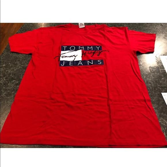 Vintage 90s Tommy Hilfiger Logo T Shirt